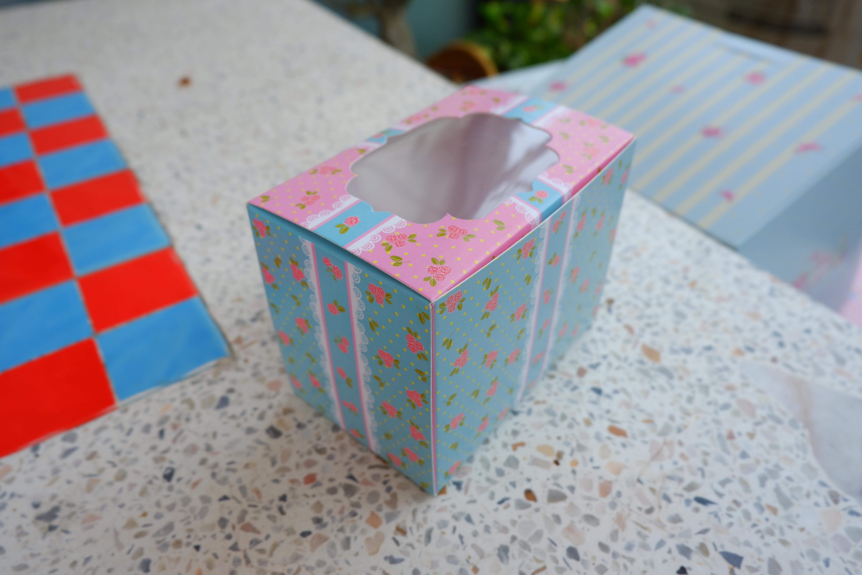 กล่องเค้ก 1 ชิ้น ชมพูกุหลาบ