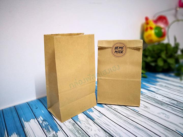 ถุงกระดาษพับข้าง สีน้ำตาล 9.5x6x16.5 cm.